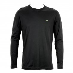 Lacoste Mens Long Sleeve Crew Neck T-Shirt (Black)