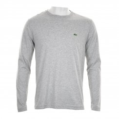 Lacoste Mens Long Sleeve Crew Neck T-Shirt (Grey)