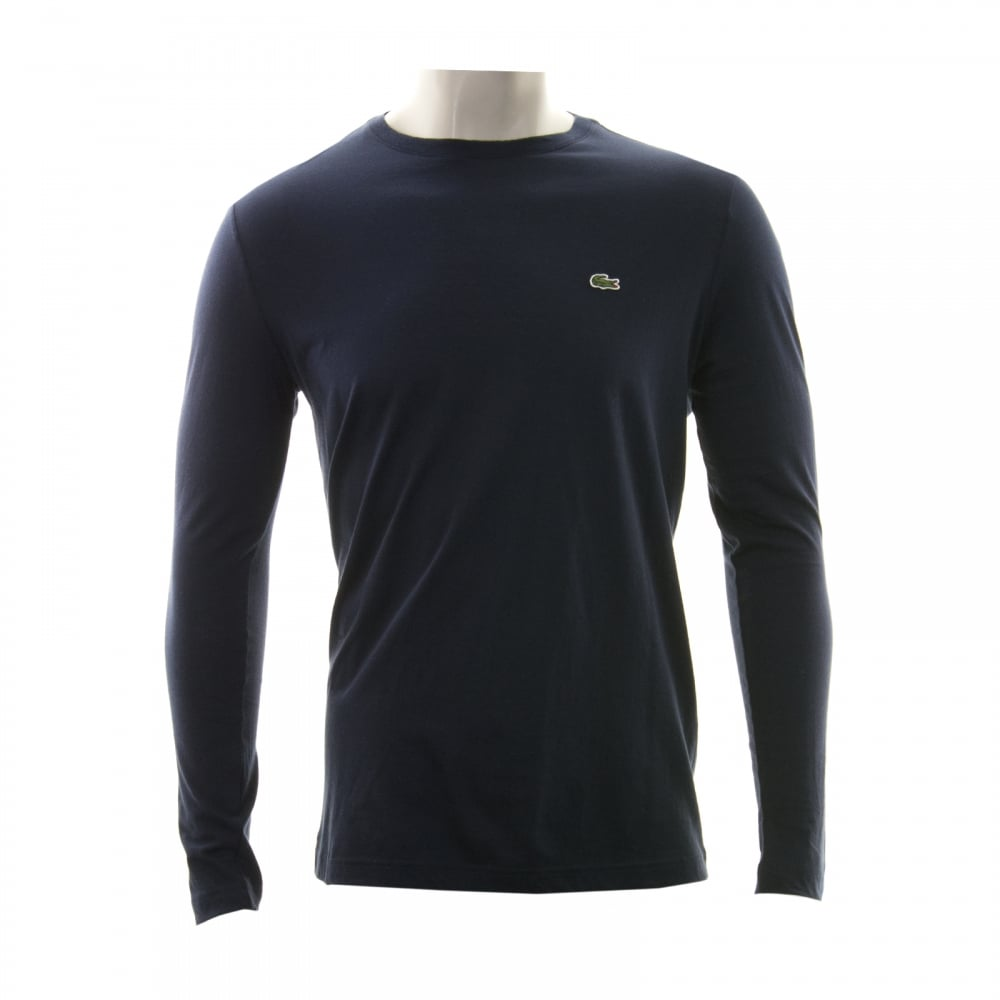 dbbb5fdd37dc Lacoste Mens Long Sleeve Crew Neck T-Shirt (Navy) - Mens from Loofes UK