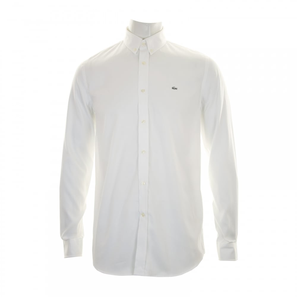 4d8f25e84 Lacoste Mens Long Sleeve Shirt (White) - Mens from Loofes UK
