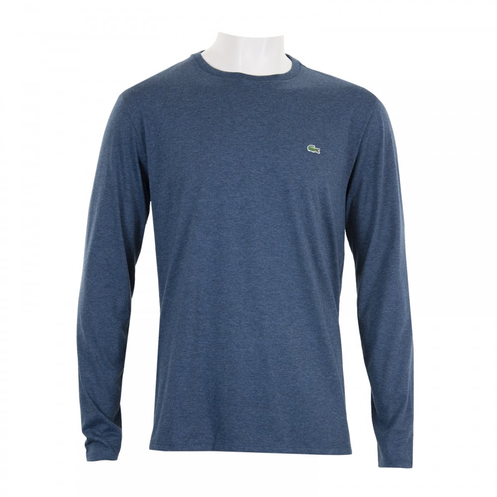Lacoste Mens Long Sleeve T-Shirt (Dark Blue) - Mens from Loofes UK 80d35279173