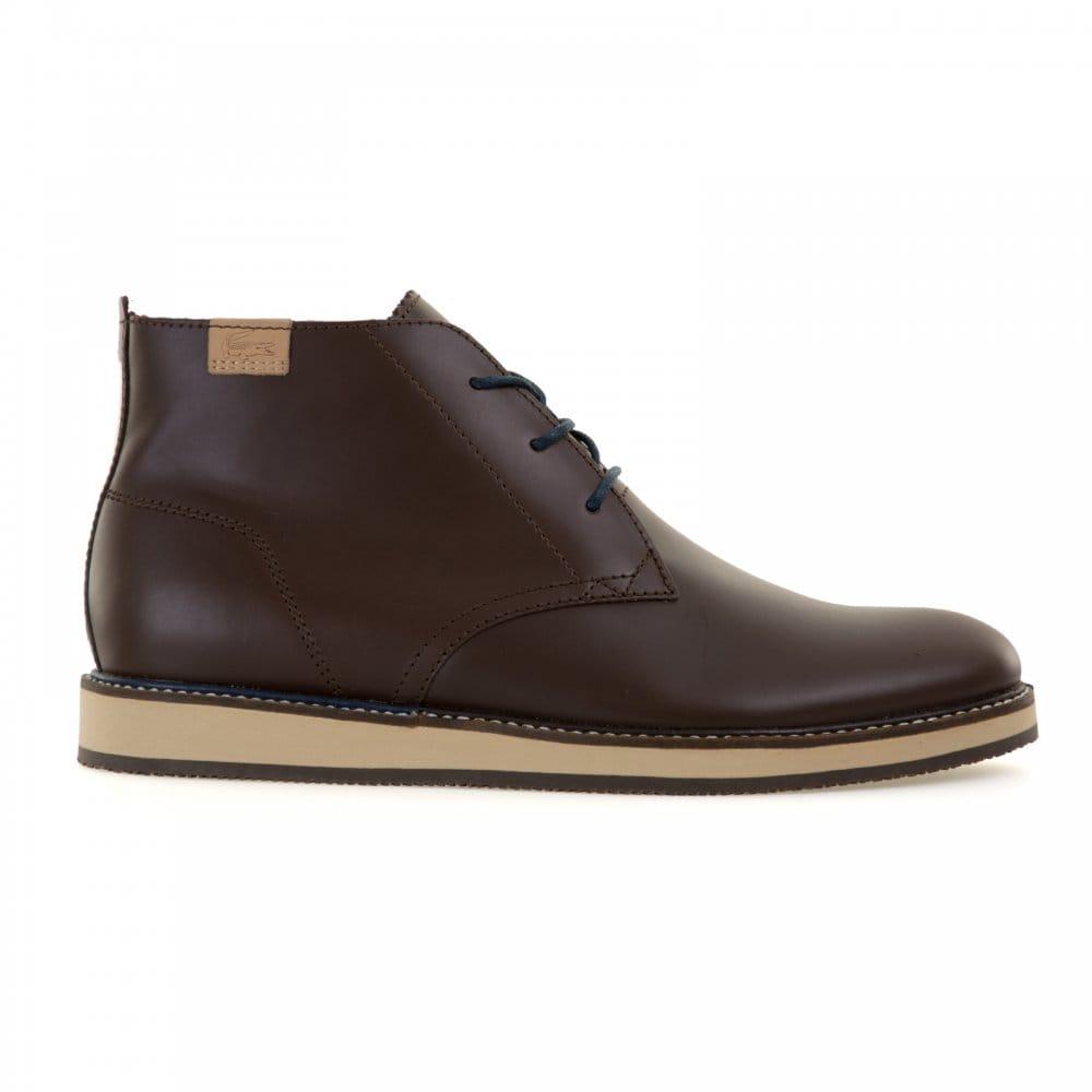 lacoste lacoste mens millard chukka boots brown