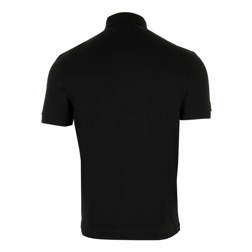 black lacoste shirt