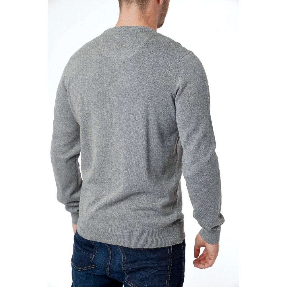 Lacoste Mens Plain Crew Neck Knit Sweater Colours: Blue, Grey