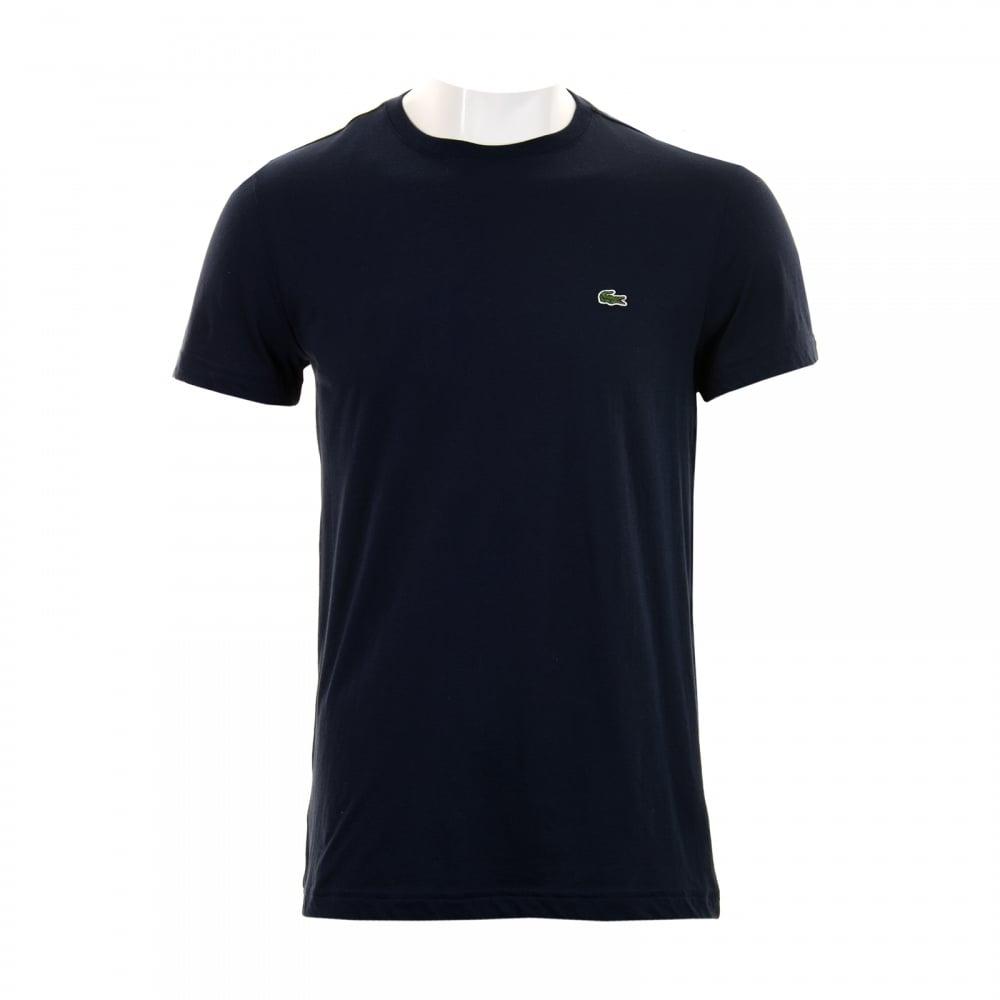 411fb073 Lacoste Lacoste Mens Plain Crew Neck T-Shirt (Navy)