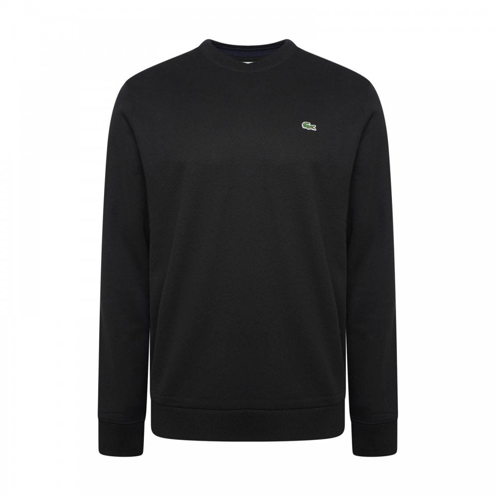 Lacoste Mens Plain Crew Sweatshirt (Black) - Mens from Loofes UK 0c5c66223139