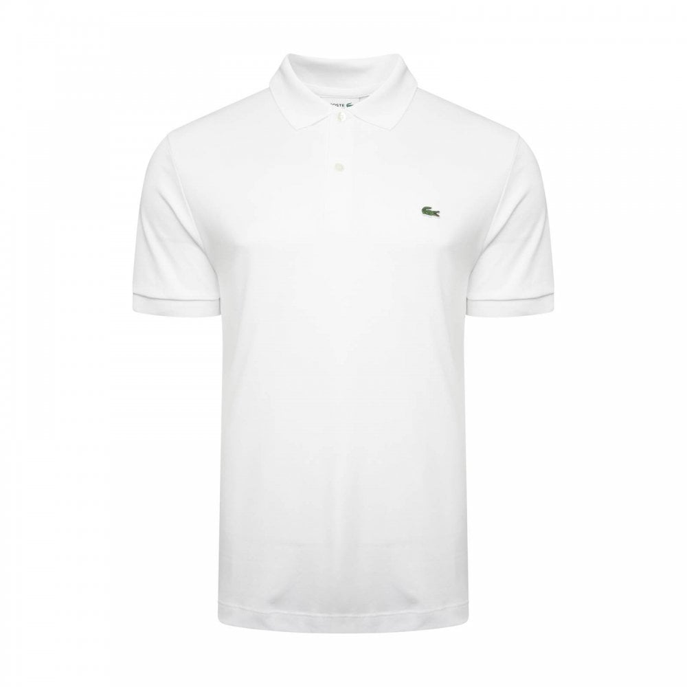 0eb88cca4280 Lacoste Mens Plain Polo Shirt (White) - Mens from Loofes UK