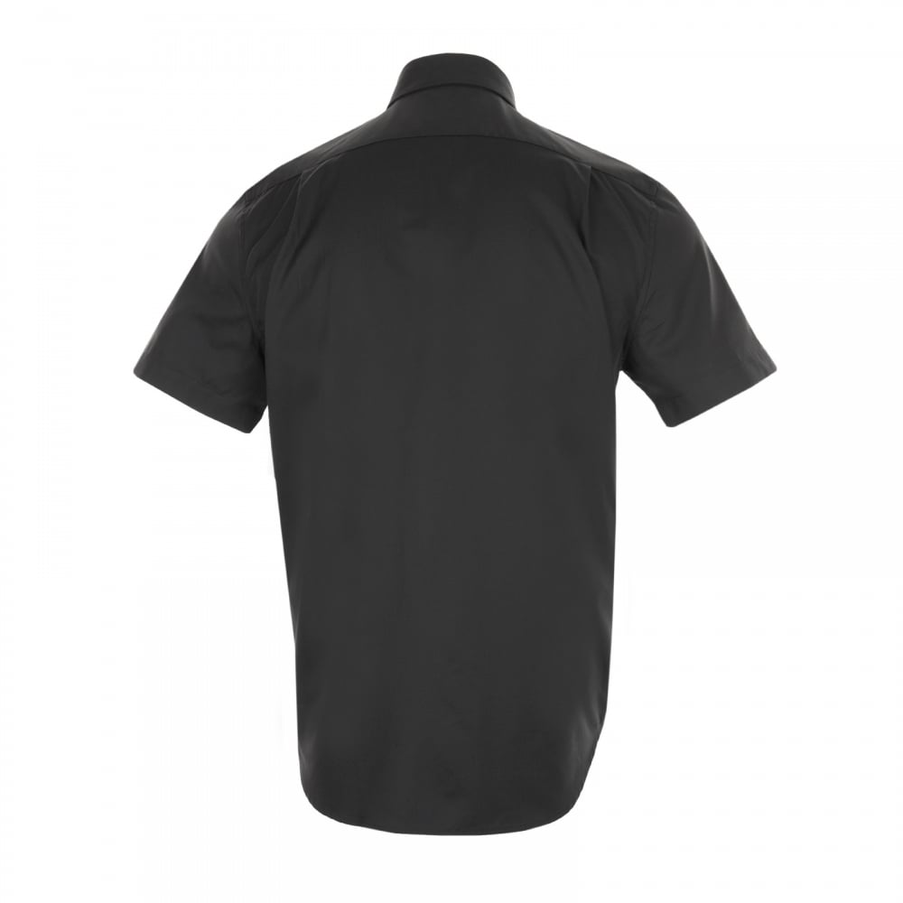 Lacoste Mens Plain Short Sleeve Shirt (Black) - Mens from Loofes UK