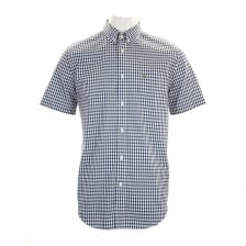 Lacoste Mens Regular Fit Check Shirt (Navy/White)