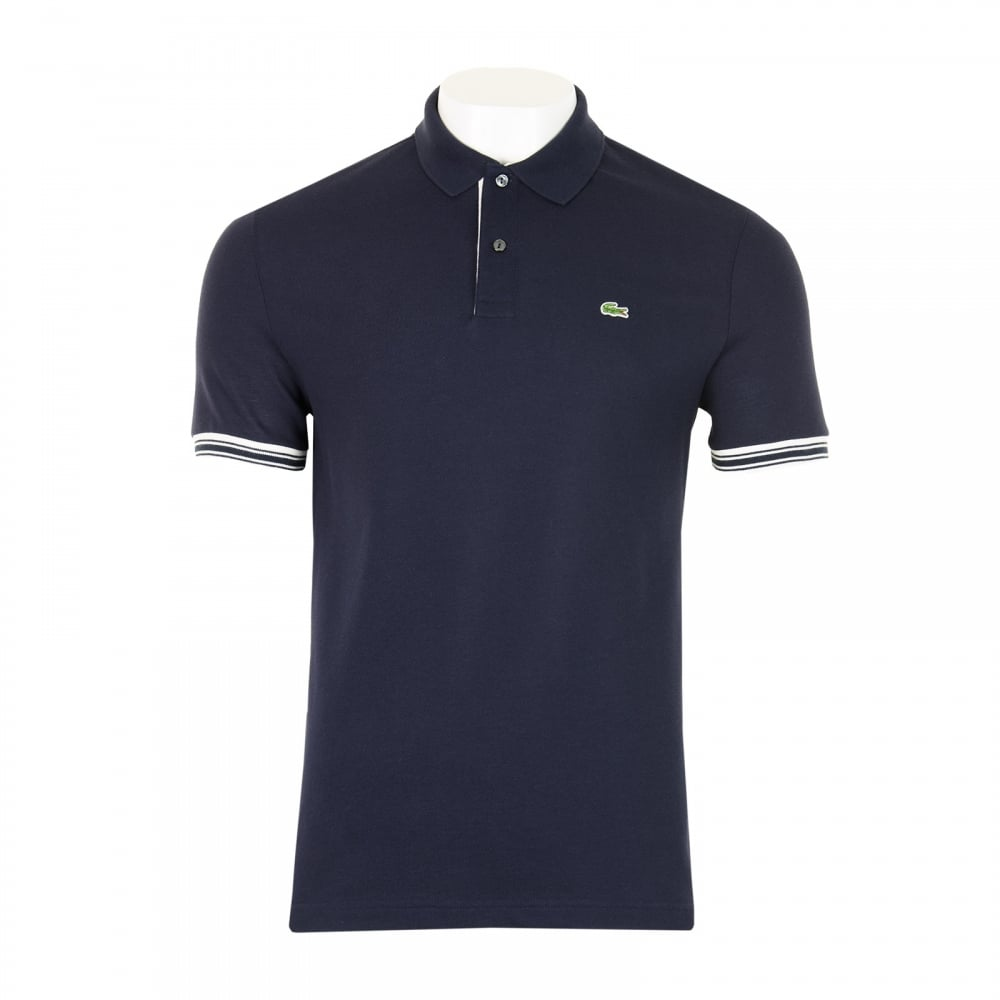 lacoste mens slim fit polo shirt navy mens from loofes uk. Black Bedroom Furniture Sets. Home Design Ideas