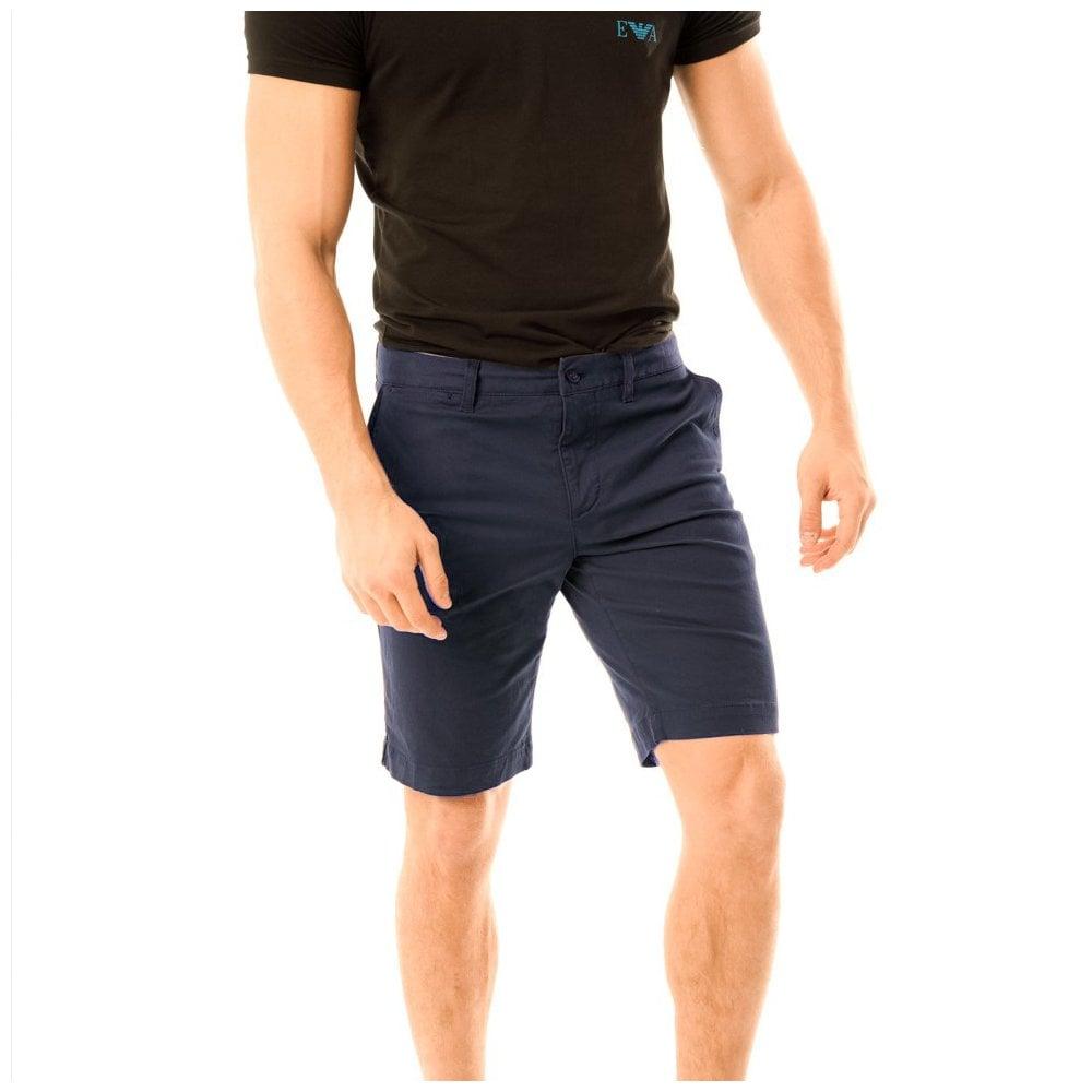 6ca54c98b Lacoste Mens Slim Fit Stretch Gaberdine Shorts (Navy) - Mens from ...
