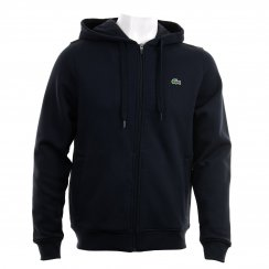Lacoste Mens Sport Full Zip Hooded Top (Navy)