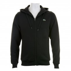 Lacoste Mens Sport Full Zip Hoody (Black)