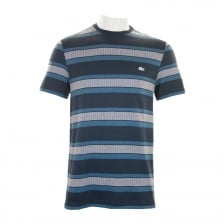 Lacoste Mens Stripe Crew T-Shirt (Navy)