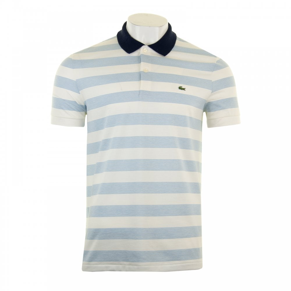 689aad4c Mens Stripe Polo Shirt (Ecru)