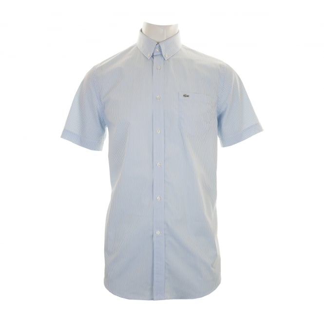 617a76e6f CH3968R6F OL102TT 519238243. lacoste mens stripe short sleeve shirt blue  white from loofes uk
