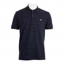 Lacoste Mens Striped Polo Shirt (Black/Blue)