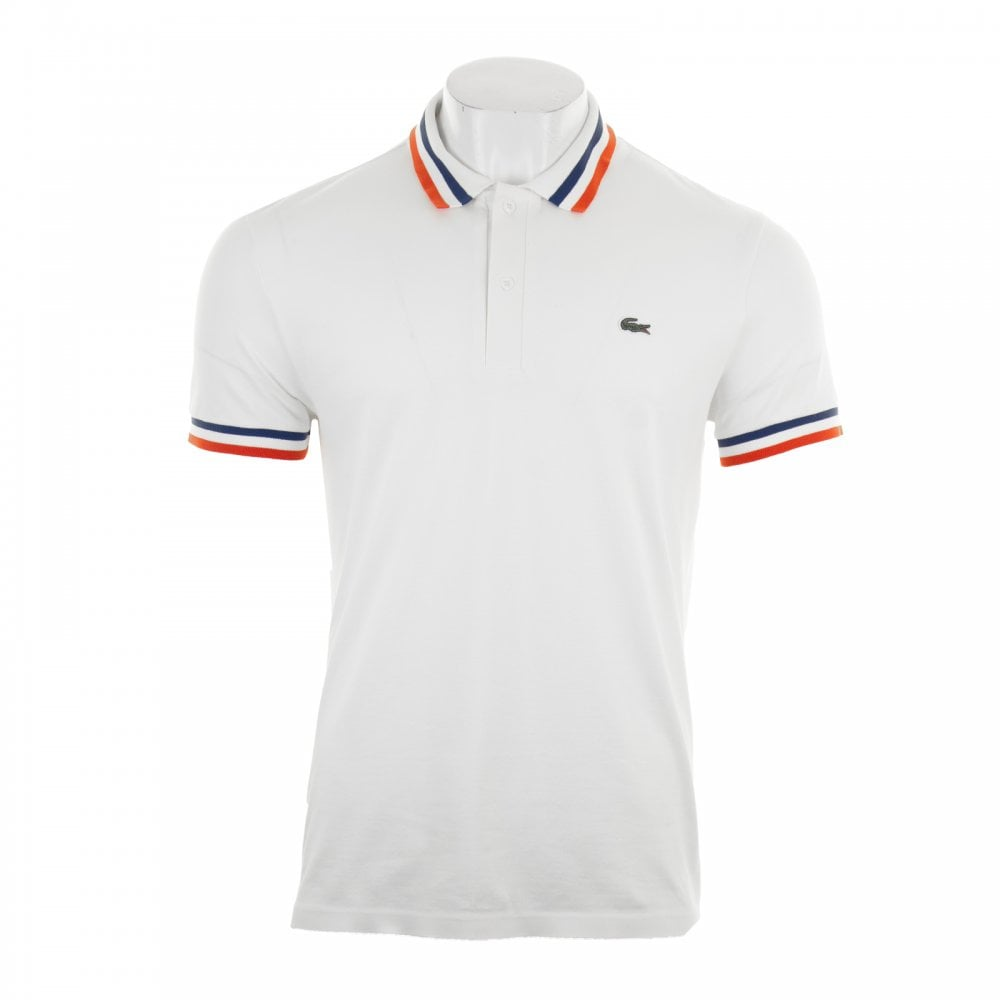 6783e3b2 Lacoste Mens Technical Polo Shirt (White) - Polo Shirts from Loofes UK