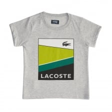 Lacoste Sport Juniors Graphic T-Shirt (Grey)
