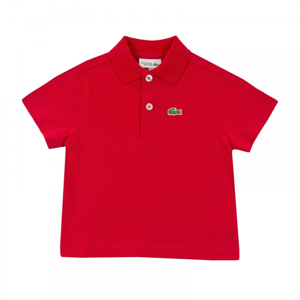 e7a7cc9706f0c Lacoste Sport Juniors Pique Polo Shirt (Red) - Kids from Loofes UK