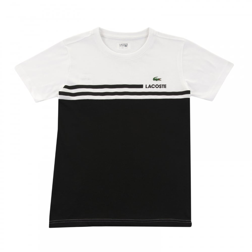 Black And White Lacoste Shirt