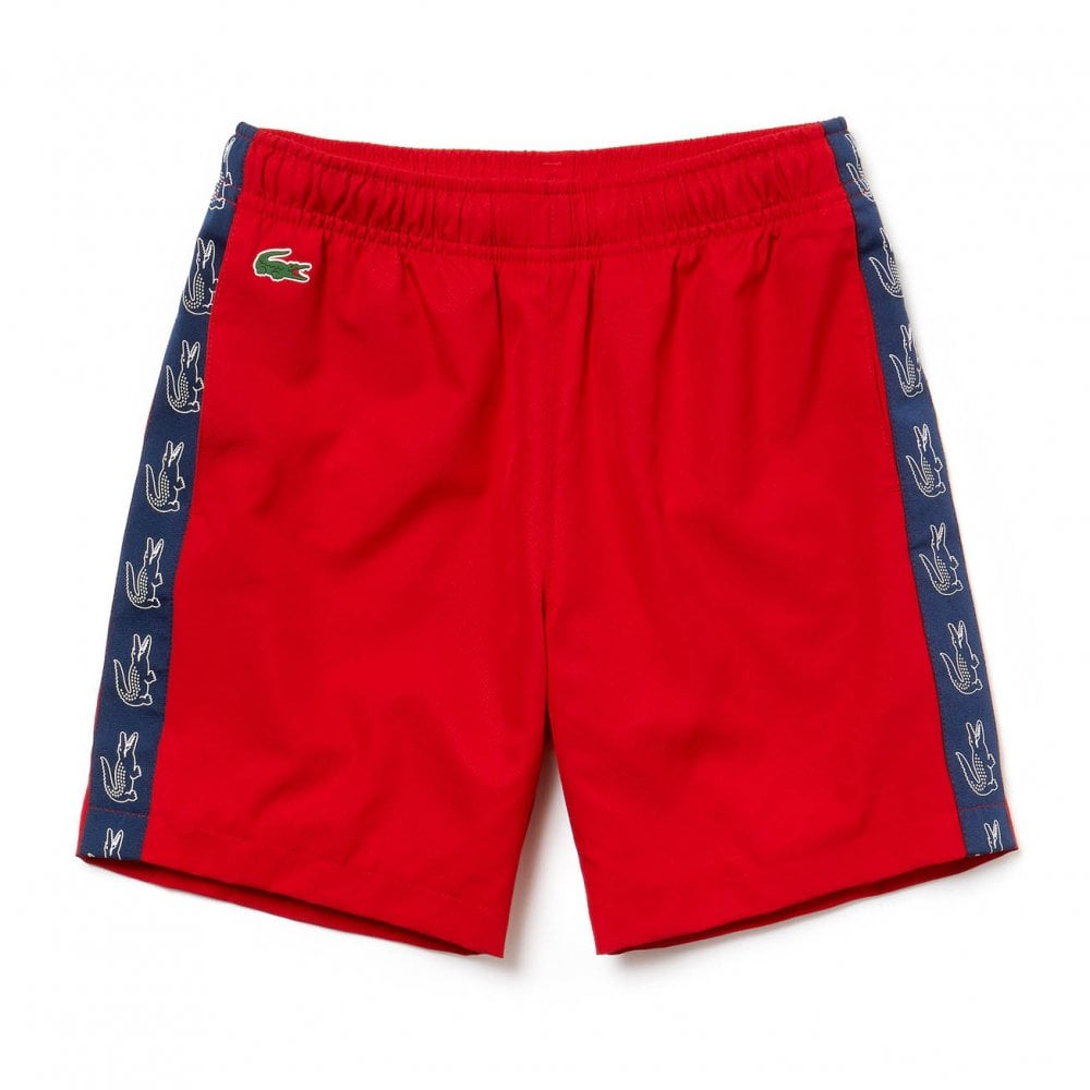 04c7ee754bdca Lacoste Sport Juniors Trim Detail Shorts (Red) - Kids from Loofes UK