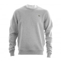 Lacoste Sport Mens Fleece Crew Sweatshirt (Grey)
