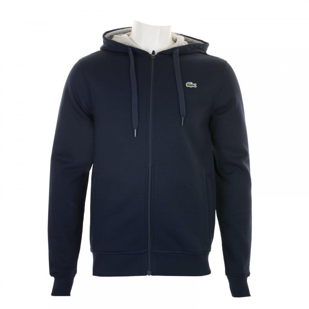 d2a0e503e4ac Lacoste Sport Mens Full Zip Hoody (Navy) - Mens from Loofes UK