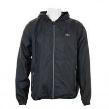 Lacoste Sport Mens Hooded Jacket (Black)