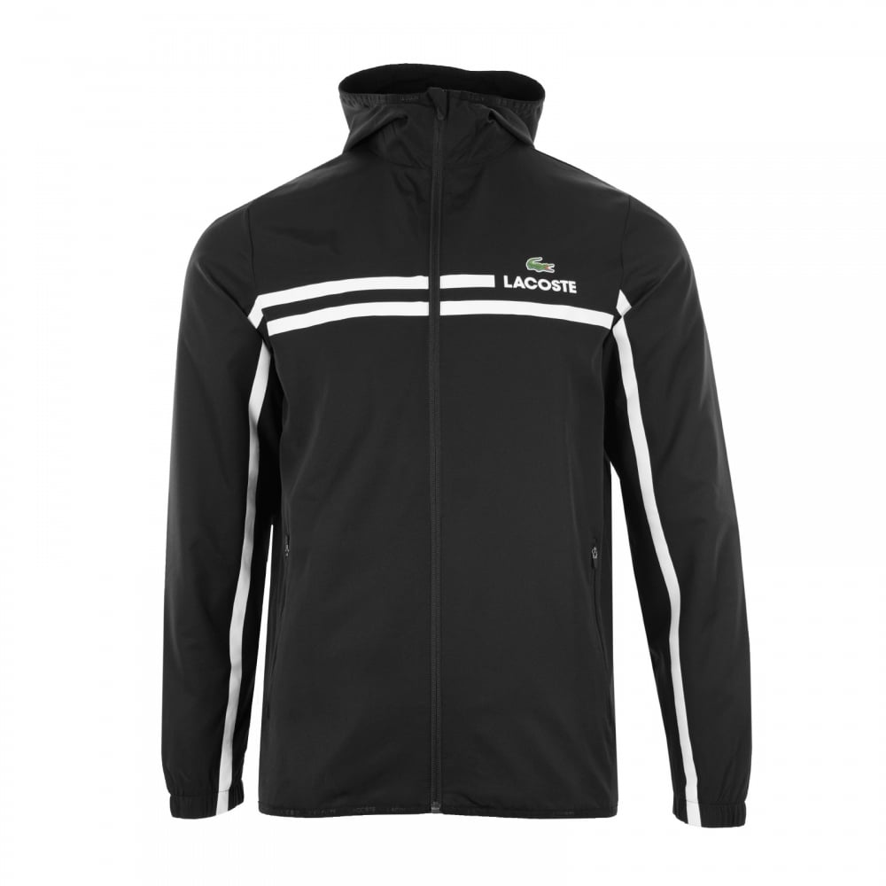 5a7b777af4f2a1 ... Lacoste Sport Mens Microfibre Jacket (Black) brand new f1255 f2981 ...