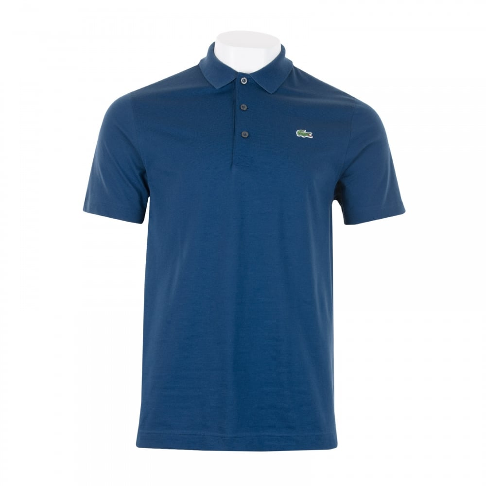 Lacoste Sport Mens Plain Polo Shirt (Dark Blue) - Mens from Loofes UK bf53a534892
