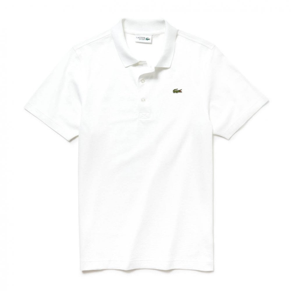 Lacoste Sport Mens Plain Polo Shirt (White) - Mens from Loofes UK