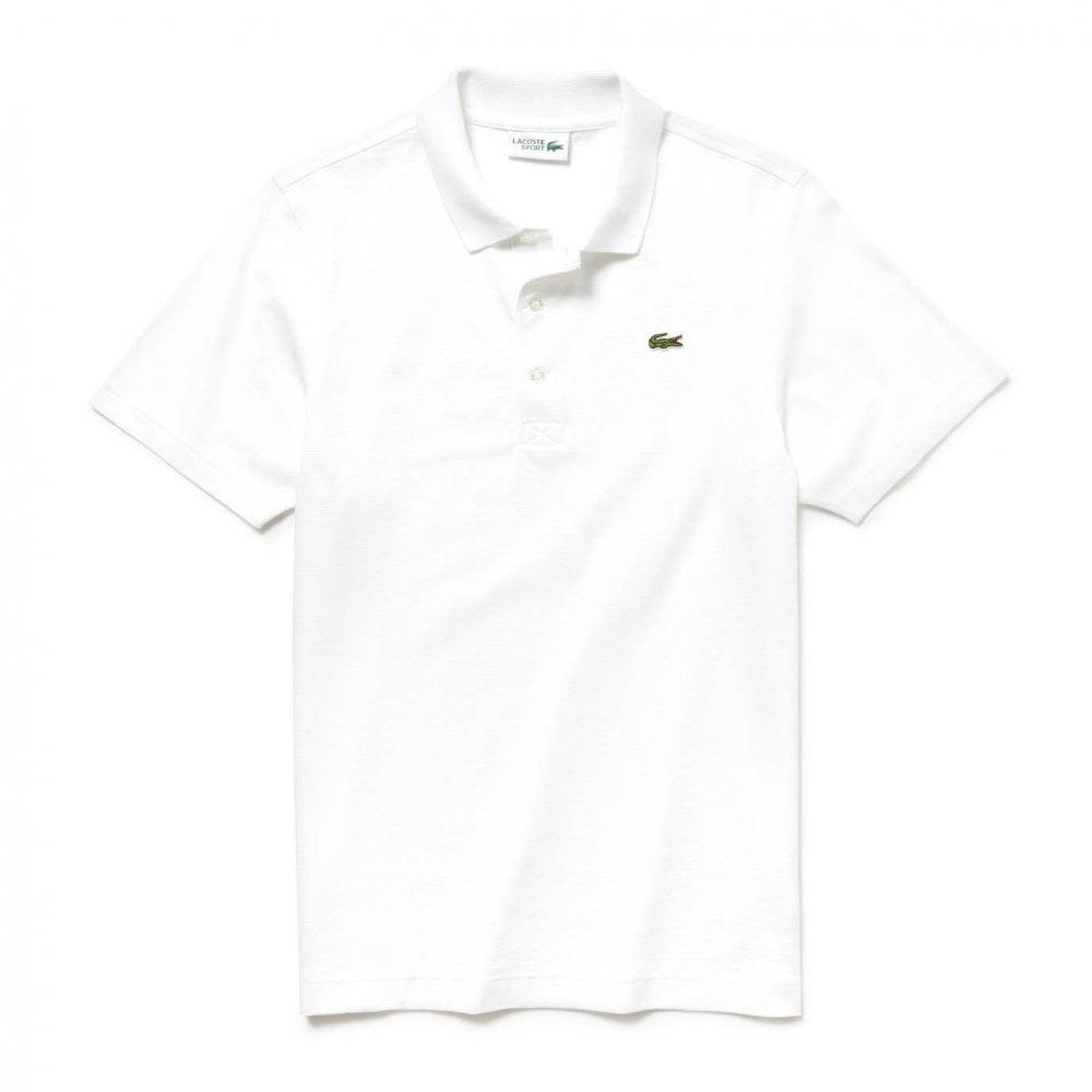 Lacoste Sport Mens Plain Polo Shirt (White) - Mens from ...