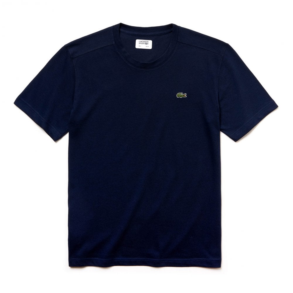 f74856cb2 Lacoste Sport Mens Plain T-Shirt (Navy) - Mens from Loofes UK