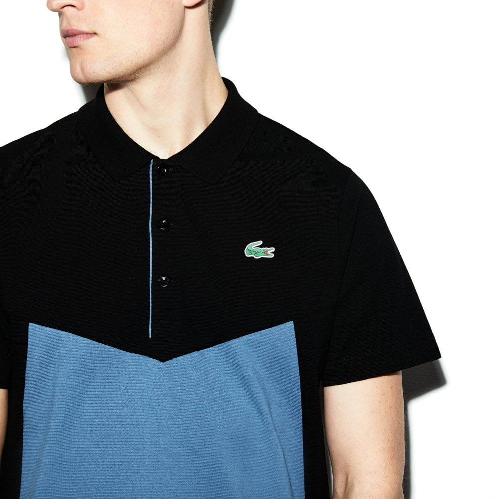 d2b73611 Mens Polo Shirt (Black / Blue)