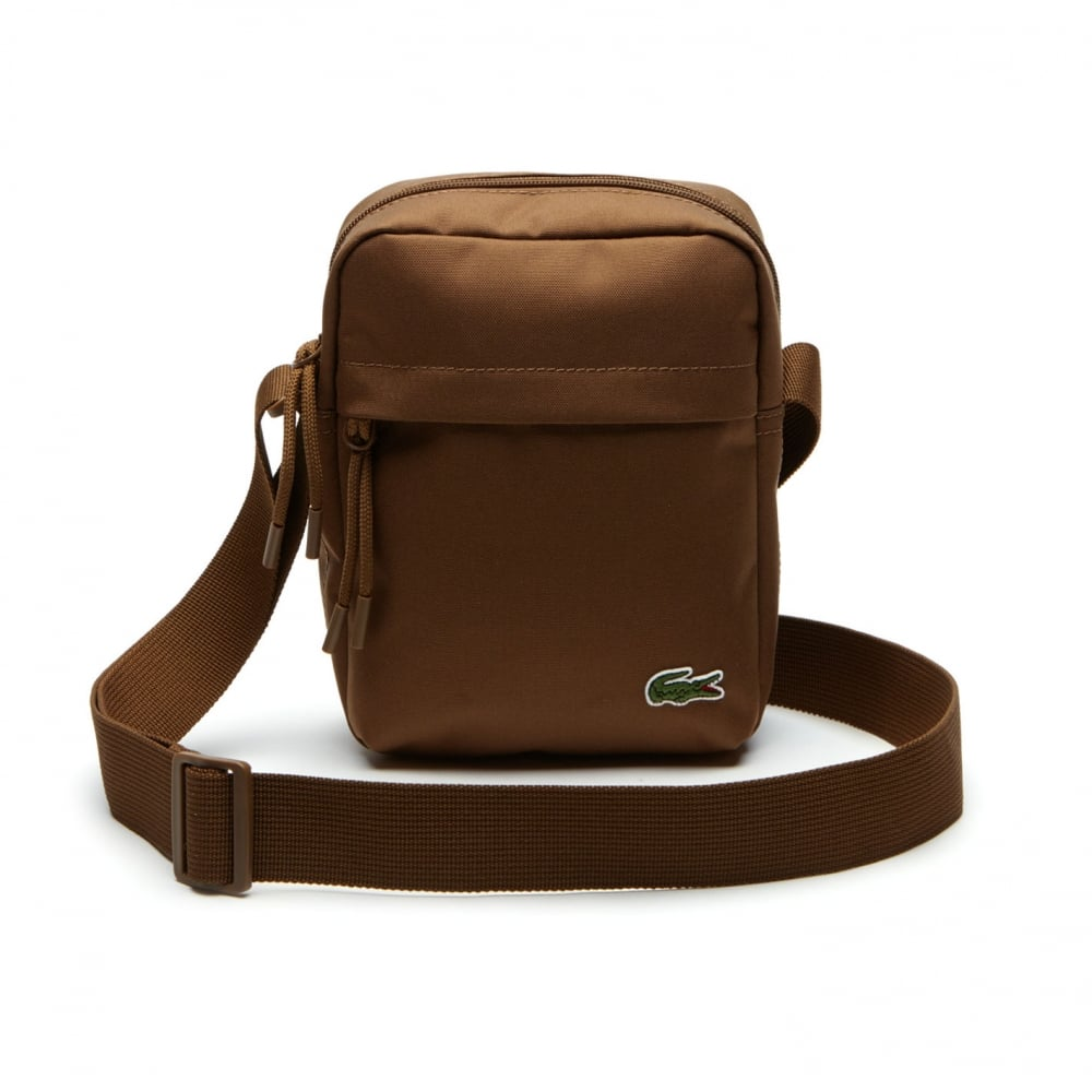 227580410e2 Lacoste Vertical Camera Bag (Brown) - Mens from Loofes UK