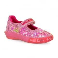 Lelli Kelly Juniors Butterfly Glitter Shoes (Pink)