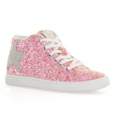 Lelli Kelly Juniors Laila Glitter Trainers (Pink)