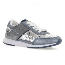 Lelli Kelly Juniors Paillettes Trainers (Blue)