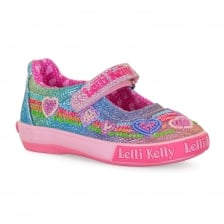 Lelli Kelly Juniors Rainbow Hearts Shoes (Multi-Coloured)