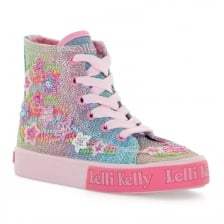 Lelli Kelly Juniors Rainbow HI Top Trainers (Pink)