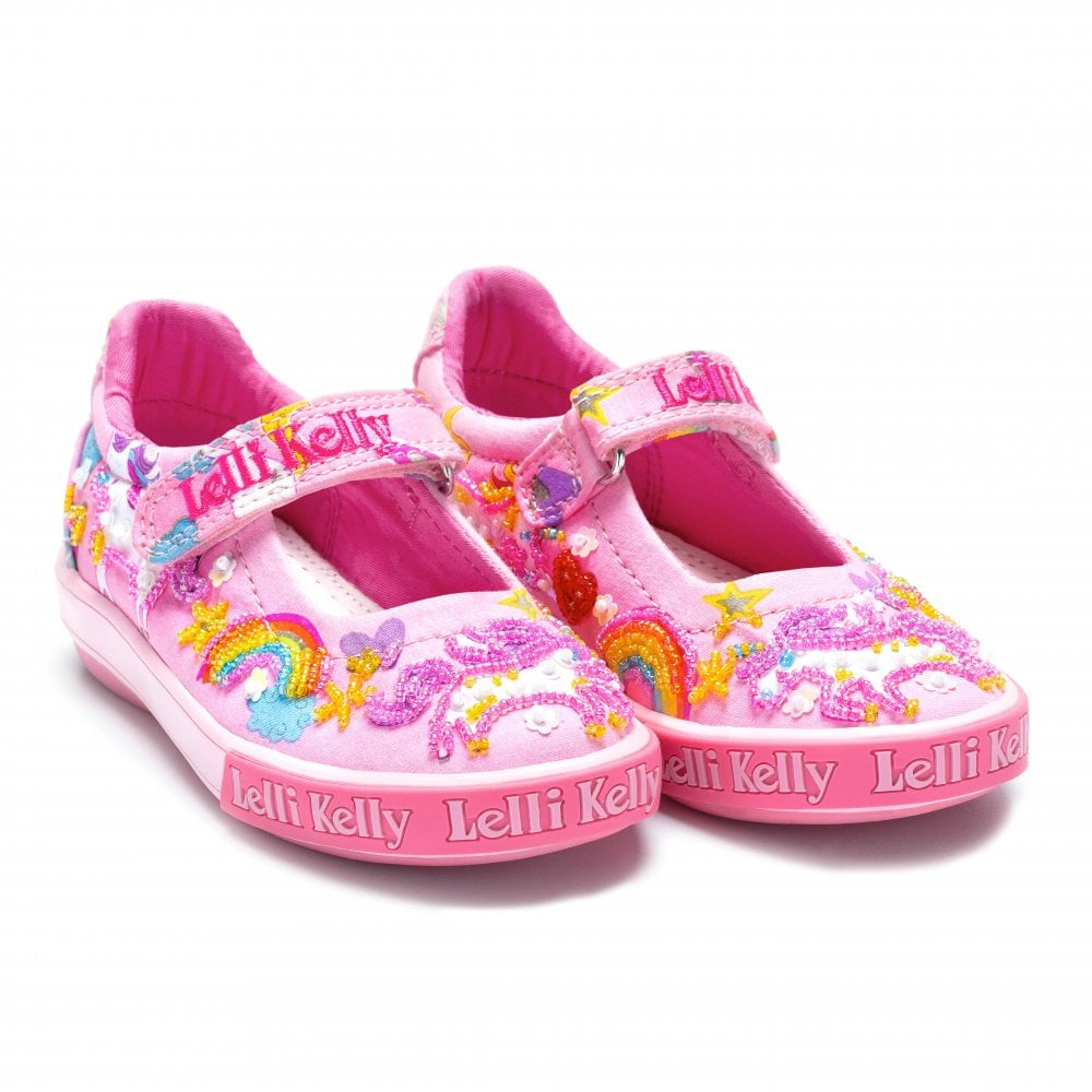 Lelli Kelly Juniors Unicorn Shoes (Pink) - Kids from Loofes UK aceb125e9