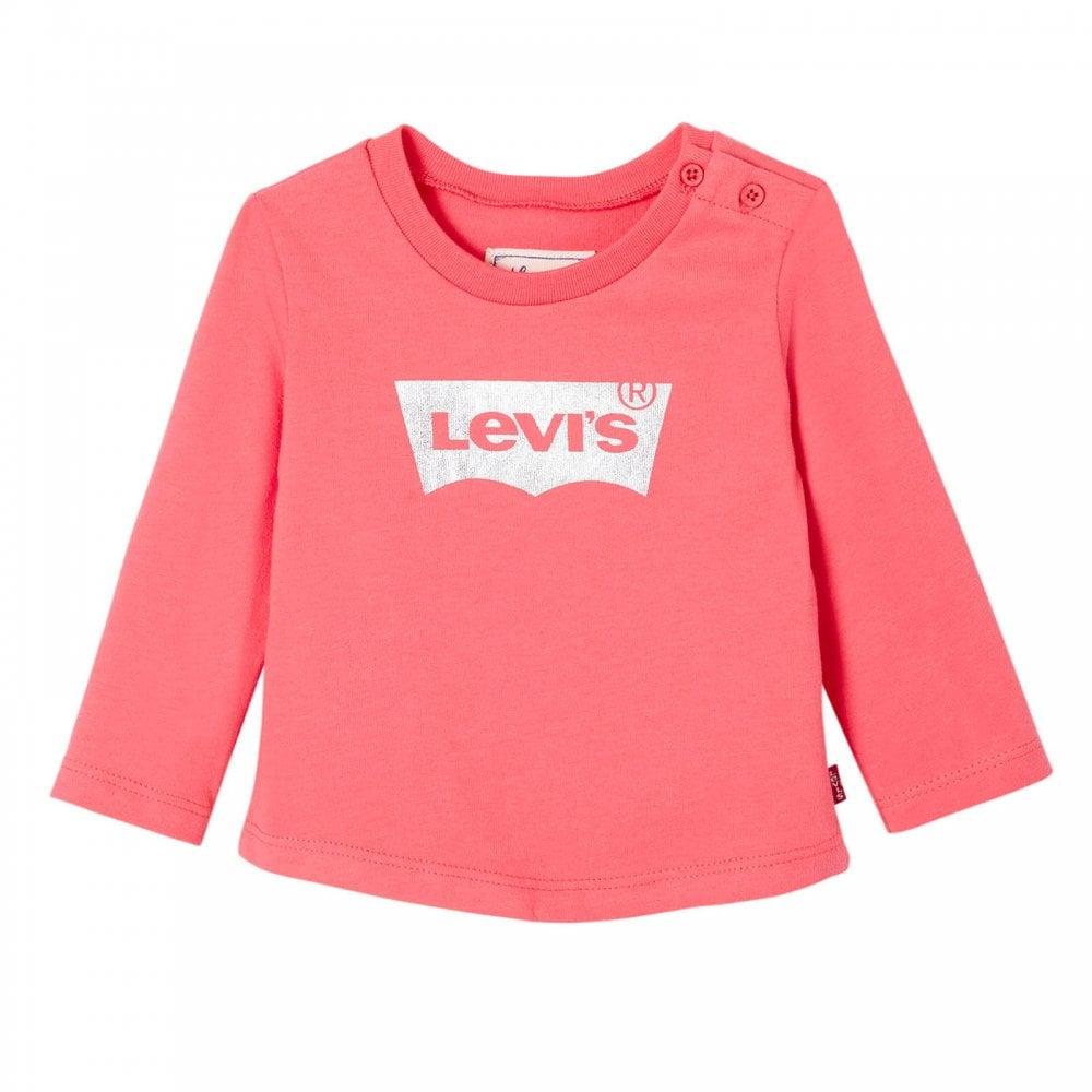 0461075c Levis Infants Basic Long Sleeve T-Shirt (Pink) - Kids from Loofes UK