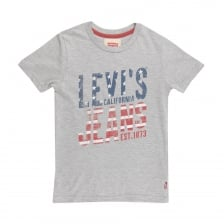 Levis Juniors California Jeans Print T-Shirt (Grey)