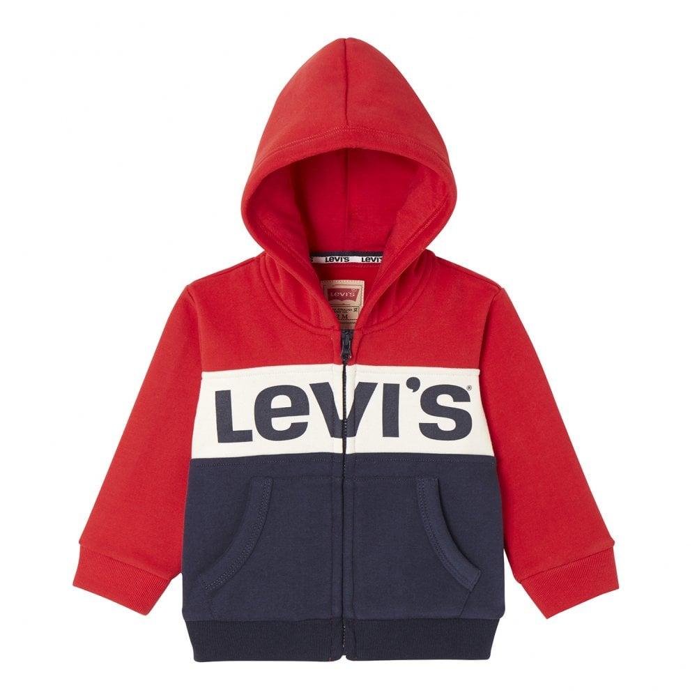 4fab6ede47f Levis Juniors Chest Print Stripe Hoodie (Red   White   Blue) - Kids ...