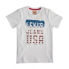 Levis Juniors Jeans Print T-Shirt (White)