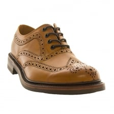 Loakes Shoes Mens 1880 Edward Brogue Shoes (Tan)