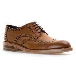 Loakes Shoes Mens Rankin Calf Brogue Derby Shoes (Tan)
