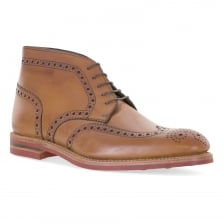 Loakes Shoes Mens Reading Calf Brogue Boots (Brown)