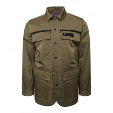 Luke Mens Grilse Patch Pocket Shacket (Moss)